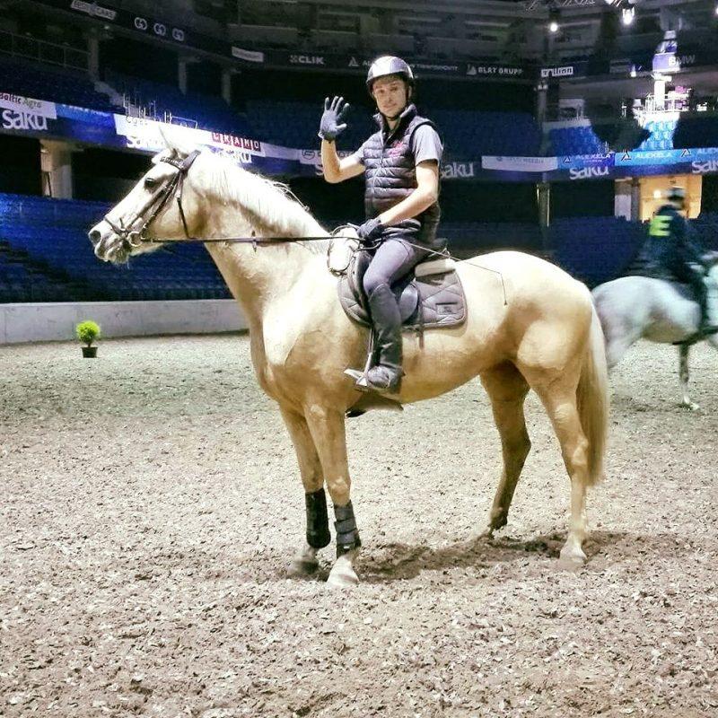 Reimo Karus hobusega Opadi Saku Suurhallis. Foto: Erakogu